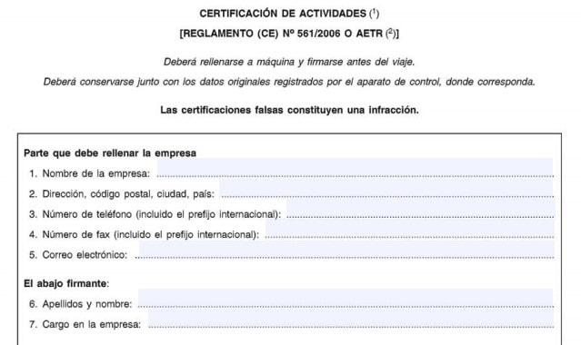 Cumplimentar la certificación
