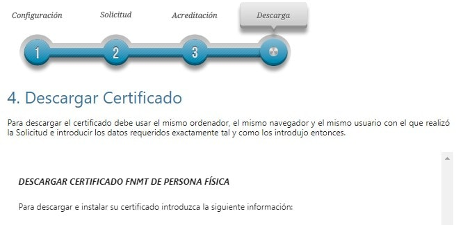 Certificado para firma electrónica
