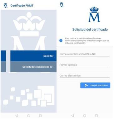 tramitar certificado digital desde el móvil