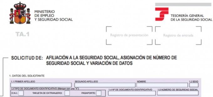 Asignación de número de seguridad social