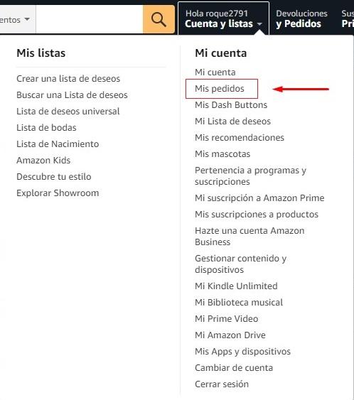 Mi cuenta en Amazon